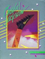 Charvel Jackson 1984 Catalog - Jackson® Guitars