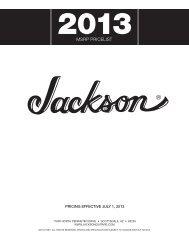 MSRP PRiceliSt - Jackson® Guitars