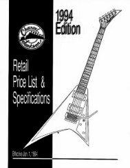 1994 Jackson Charvel pricelist - Jackson® Guitars