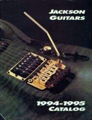 Jackson 1994-95 Catalog - Jackson® Guitars
