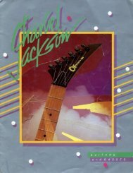 Charvel Jackson 1985 Catalog - Jackson® Guitars