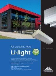 Air curtains type Li-light - Stavoklima.cz