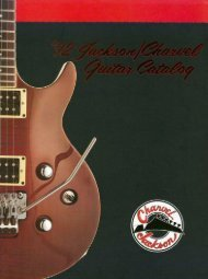 Jackson Charvel 1992 Catalog - Jackson® Guitars