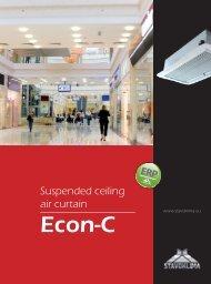 Suspended ceiling air curtain - Stavoklima.cz