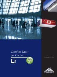 Comfort Door Air Curtains - Stavoklima.cz