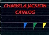 Jackson Charvel 1989 Japan Only Catalog - Jackson® Guitars