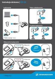 Instrukcja skrócona Sennheiser EZX 80 - Aplauz