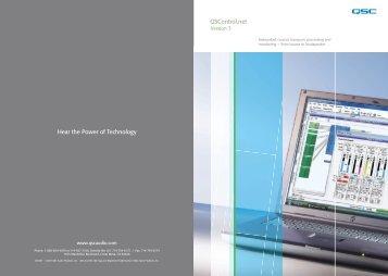 QSControl.net Version 3 8-page brochure - Aplauz