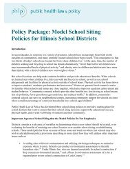 Model School Siting Policies for Illinois School Districts - Active ...