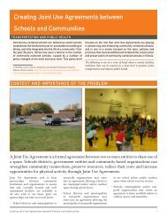Creating Joint Use Agreements between Schools and Communities