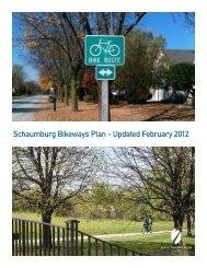 Schaumburg Bikeways Plan - Active Transportation Policy