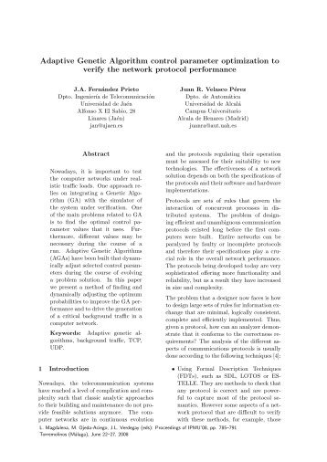 Adaptive Genetic Algorithm control parameter optimization ... - gimac