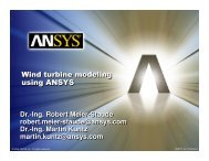 Wind turbine modeling using ANSYS Wind turbine ... - DANSIS