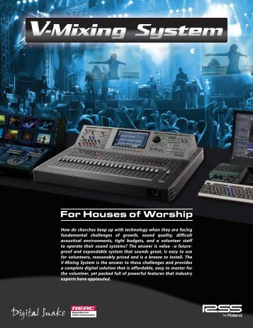 V-Mixing System for Houses of Worship - Roland Systems Group