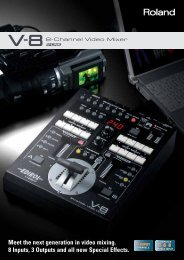 V-8 Brochure - Roland Systems Group