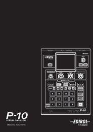 Manual de instrucciones - Roland Systems Group