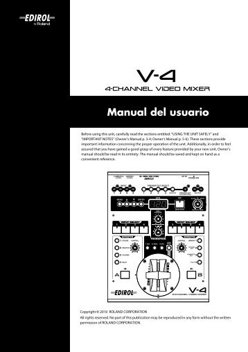 Manual del usuario - Roland Systems Group