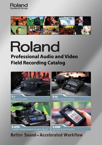 Field Recording Catalog - Roland Systems Group