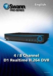 4 / 8 Channel D1 Realtime H.264 DVR - Appliances Online