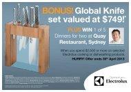 BONUS!Global Knife set valued at $749!* - Appliances Online