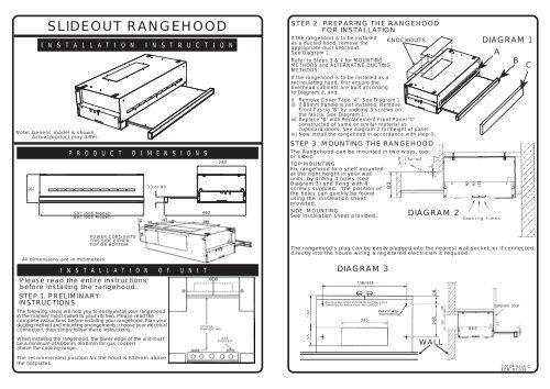 SLIDEOUT RANGEHOOD - Appliances Online