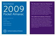 Pocket Almanac - California Academy of Sciences