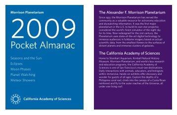 Pocket Almanac - California Academy of Sciences