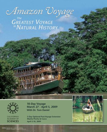 Download the Amazon trip brochure - California Academy of Sciences