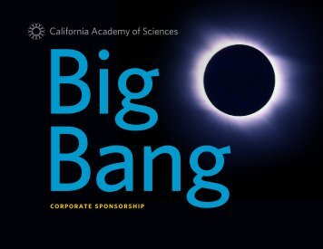 Corporate sponsorship - California Academy of Sciences