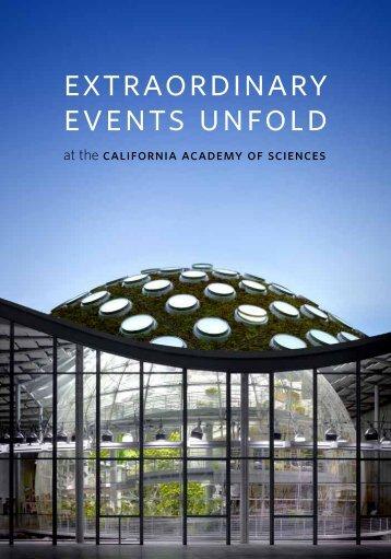 Extraordinary events unfold - California Academy of Sciences