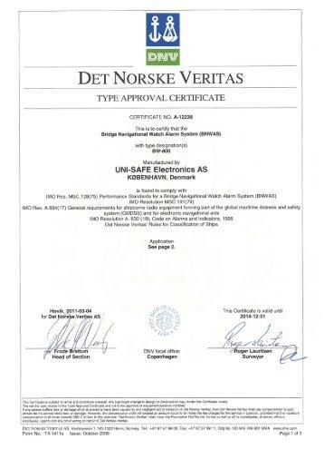 DET NORSKE VERITAS - Navy