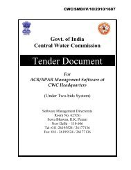 Tender Document - Central Water Commission