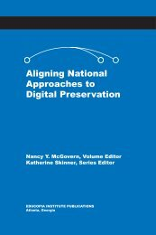 Aligning National Approaches to Digital ... - Educopia Institute