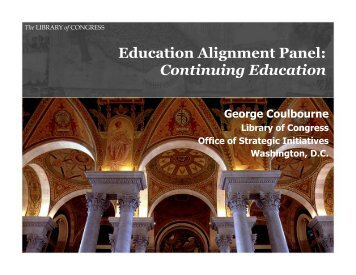 Education Panel - George Coulbourne