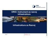 ORIO: Instrument za razvoj infrastrukture Infrastruktura za Razvoj