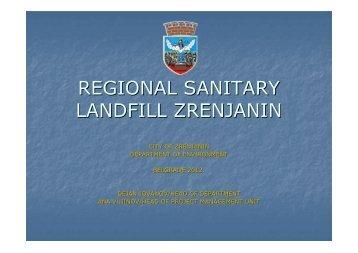 REGIONAL SANITARY LANDFILL ZRENJANIN