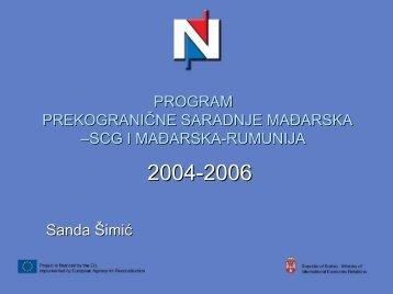 PROGRAM PREKOGRANIČNE SARADNJE MAĐARSKA –SRBIJA I ...
