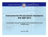 Instrument for Pre-accession Assistance IPA 2007-2013