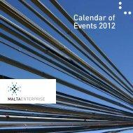 Calendar of Events 2012 - Malta Enterprise