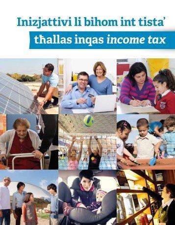 Inizjattivi li bihom int tista' tħallas inqas income tax - Malta Enterprise