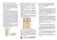 Info-Flyer zu den Meldeunterlagen - Stadtarchiv Mannheim