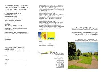 PDF Flyer / Einladung Finissage - stadtbauraum