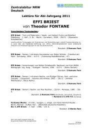 EFFI BRIEST von Theodor FONTANE - Stadtbibliothek Bielefeld