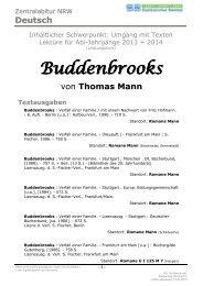 BUDDENBROOKS von Thomas Mann - Stadtbibliothek Bielefeld