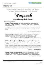 WOYZECK von Georg Büchner - Stadtbibliothek Bielefeld