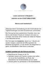 Lesen und lernen in Bergheim - stadt.bibliothek.bergheim