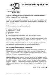 Weitere Informationen (PDF) - GGG Stadtbibliothek Basel