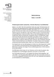 Weitere Infos (PDF) - GGG Stadtbibliothek Basel