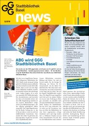 Ausgabe 02/10 - GGG Stadtbibliothek Basel