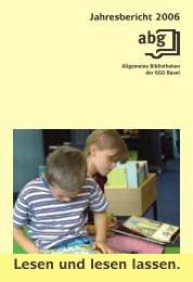 2006 - GGG Stadtbibliothek Basel